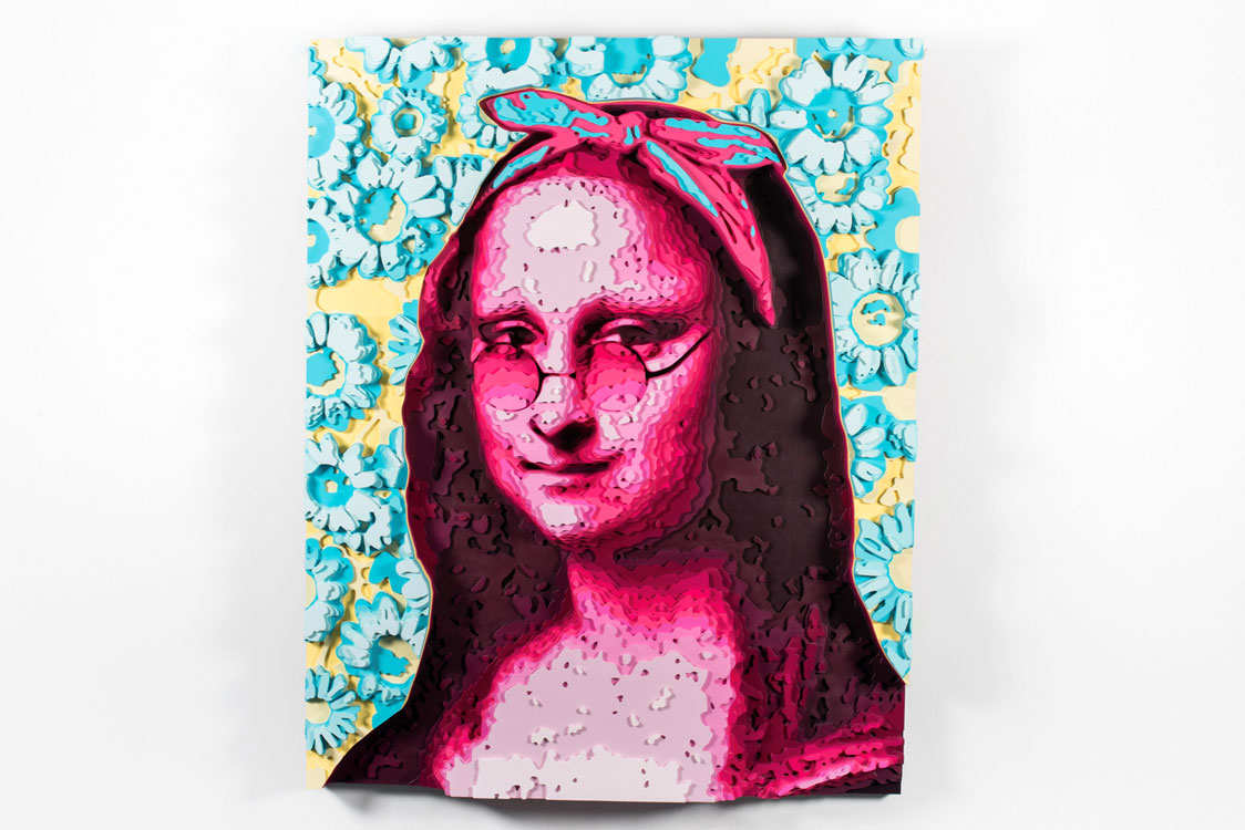 Monalisa colored plywood art